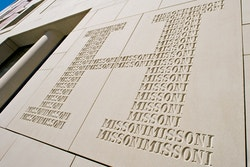 Application of the logo of Hotel Missoni on the building facade