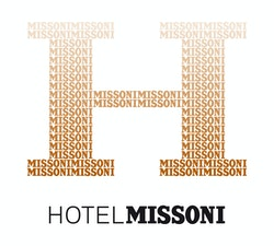 "Logo designed for Hotel Missoni composed of a big ""H"" and the name of the brand below"