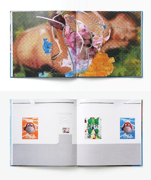 An opened book designed for Jeff Koons