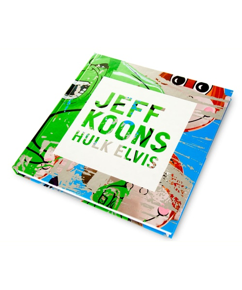 The Hulk Elvis book designed for Jeff Koons on a white table