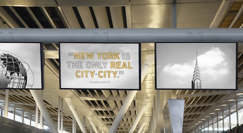 Poster promoting New York City in Jfk Terminal 4