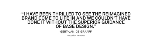 Quote from CEO Gert-Jan de Graaf on its experience with Base Design