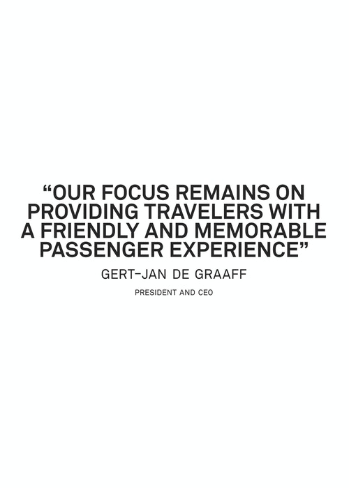 Quote from Gert-Jan De Graaf on the passenger experience