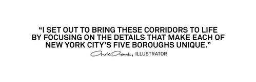 A quote from Illustrator Chris Dent on the objective of the signage for Jfk Terminal 4