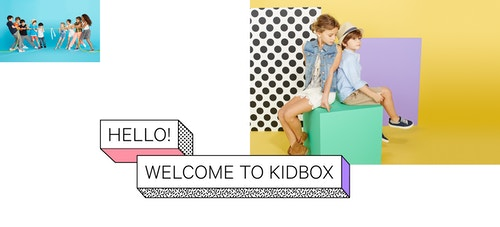 A visual designed for Kidbox communication campaign