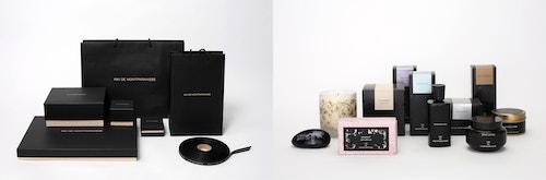 Photo collage of different packaging designed for Kiki de Montparnasse