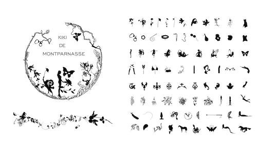 Series of icons designed for Kiki De Montparnasse visual identity