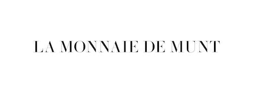 A typographic logo with a serif font developed for La Monnaie De Munt