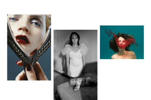 A collage of three different photos taken for the communication campaign of La Monnaie De Munt
