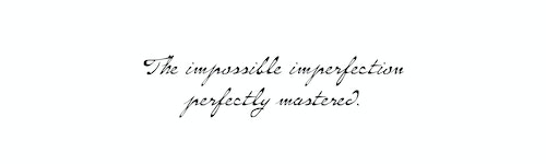 Quote on the beauty of imperfection