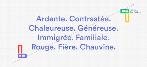 List of adjectives to qualify the city of Liege