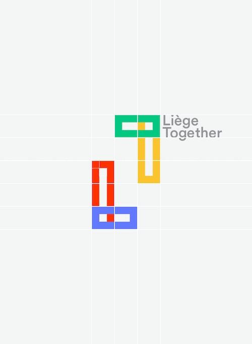 Grid system designed for Liege Together logotype