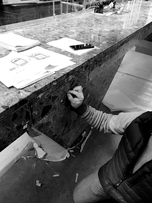 Maison Dandoy drawer under renovation