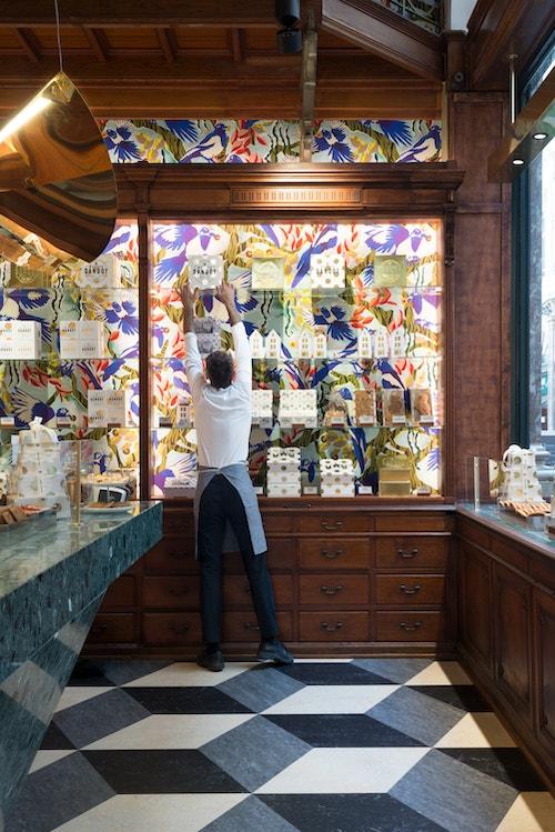 A look inside the store of Maison Dandoy in Galeries de la Reine