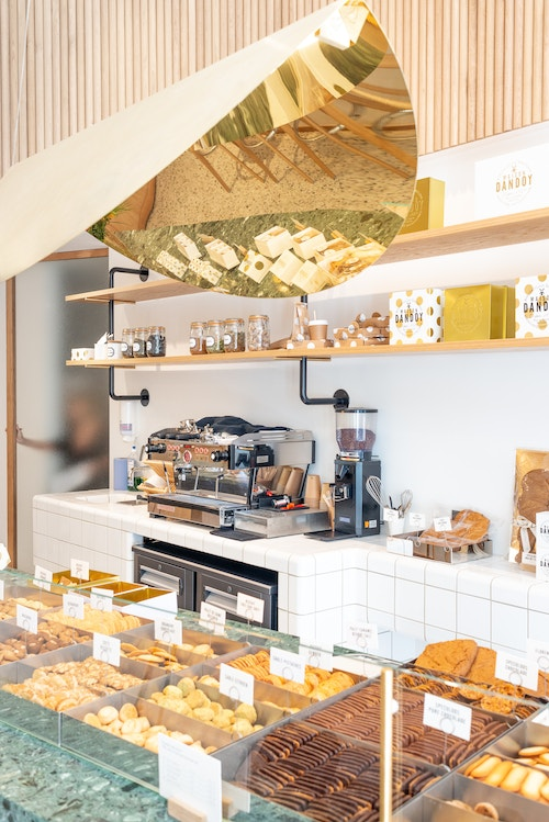 Maison Dandoy biscuits displayed in the store in Antwerp