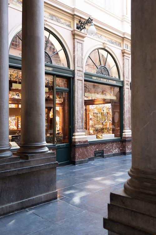 Maison Dandoy view of the store at Galeries de la Reine