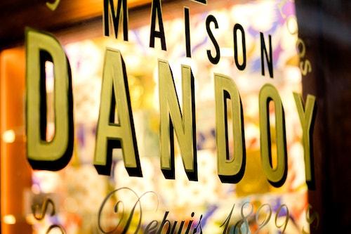 Maison Dandoy window designed by Base Design