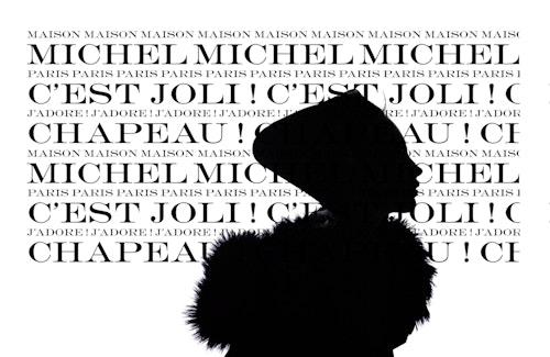 """Visual designed for Maison Michel quoting """"c'est joli !"""""""
