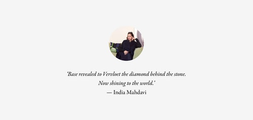 A quote from designer India Mahdavi on working with Base Design
