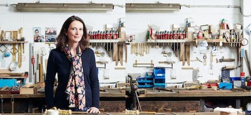 President Isabelle Hamburger standing in a studio of Maison Vervloet