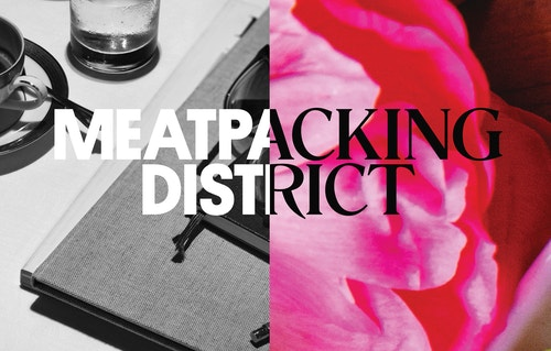 Horizontal visual with logotype designed for Meatpacking District Improvement Association