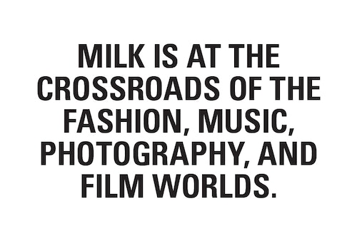 A copywriting on the different areas Milk operates