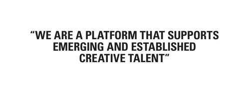 A copywriting on what is Milk as a platform that supports creative emerging talent