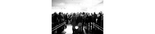 A crowd during the opening of the Milk Gallery