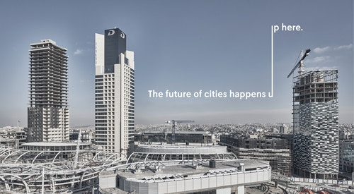 Tagline of Mitsulift on the future of cities