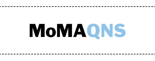 The typographic logo designed for Moma Queens