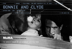 "A poster for ""Bonnie and Clyde"" designed for Moma Queens"