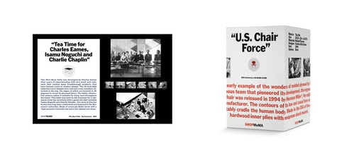 """Packaging """"U.S. Chair Force"""" designed for the Moma store"""