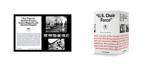 "Packaging ""U.S. Chair Force"" designed for the Moma store"