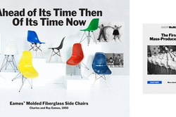 A collage of two posters promoting the chairs of the Moma Store