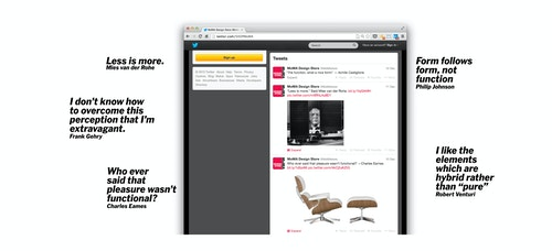 Simulation of the Moma Store's posts on Twitter