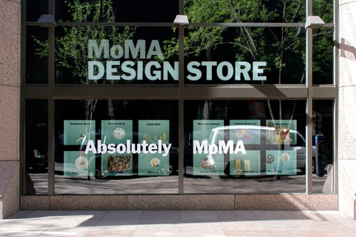 Exterior of the Moma Design Store