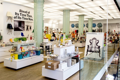 Inside of the Moma Store