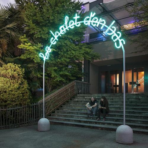 """A neon designed for Montreux Jazz Festival """"Le chalet d'en bas"""""""""""
