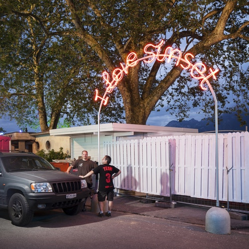 "A neon designed for Montreux Jazz Festival ""I love sunset"""