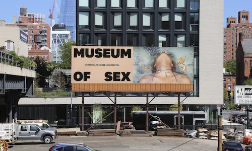 A banner designed for the Museum of Sex communication on an advertising panel