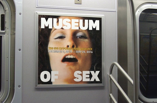 A poster designed for the Museum of Sex campaign in the subway