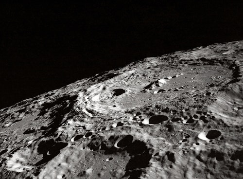 Close-up view of the moon