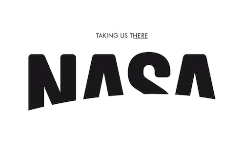 The new Nasa logo designed by our creatives