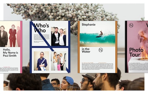 Four different posters designed to present portraits of creatives and entrepreneurs who come to Neuehouse
