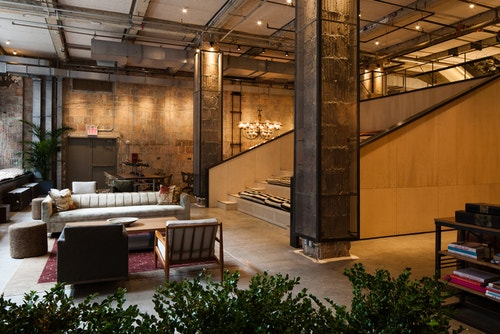 A room inside Neuehouse coworking spaces