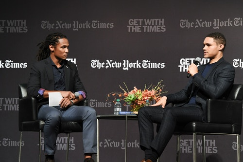 Trevor Noah during an interview with The New York Times