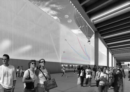A huge wall inside Parc des Expositions