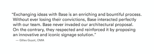 A quote from Gilles Guyot on his experience with Base Design