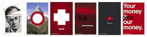Set of posters designed for Open Switzerland branding