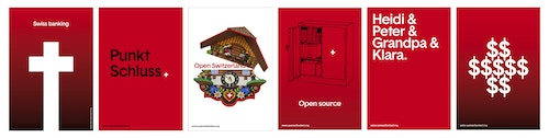Another set of posters designed for Open Switzerland branding